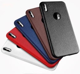 Wholesale Hot Sale Phone Cases - 2017 hot sale For Apple iphone X TPU cell phone shell Litchi rind Creative Phone case cover