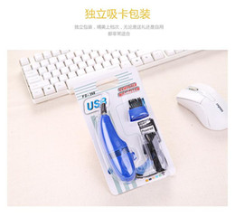 Wholesale Small Computer Vacuum Cleaners - USB Vacuum cleaner 30pcs High quality Mini Computer with Small brush flexible rubber for PC Laptop Computer keyboards with retail box