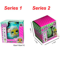 Wholesale Tear Spray - LOL SURPRISE DOLL Series 1&2 Dress Up Toys Baby Tear Change Egg Can Spray Water Color Hands feet Move Realistic Baby Dolls Sisters 45+