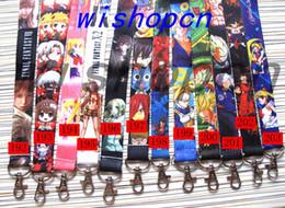 Wholesale japanese cartoon girls - Wholesale Popular Cartoon Japanese anime Neck Lanyards Keychain ID Badge Holder g-1