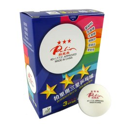 Wholesale Pong Stars - 6x Palio New Material Seamless 3 Star 40+ White Table Tennis Ping Pong Balls