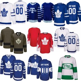Wholesale Hockey Jerseys Sizes - 2018 Customize Toronto Maple Leafs Jerseys Authentic personalized Cheap Hockey Jerseys Any Number & Name Embroidery Logos size S-3XL