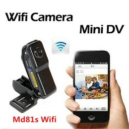Wholesale Wireless Outdoor Video Security - Outdoor Sport Moblie WIFI Camera Mini DV Wireless IP Camera MD80 MD81S Video Recorder Portable Camcorder Security Camera