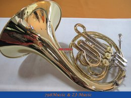 Wholesale Pipe Tunes - Wholesale- 3 Key French Horn Gold F Keys Cupronicekl Tuning Pipe With Case