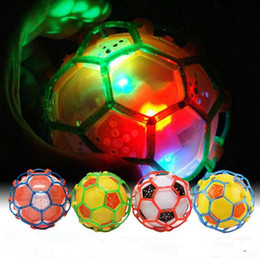 Wholesale Led Toy Bounce Dancing - LED Light Dance Jumping Football Music Football Bouncing Dancing Ball Children Funny Toy Crazy Magic Balls OOA2665