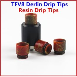 Wholesale Derlin Drip Tips - New Resin Drip Tips Derlin Drip Tips Wide Bore Drip Tips for Electronic Cigarette Mouthpiece fit 510 RDA Vaporizer Atomizer