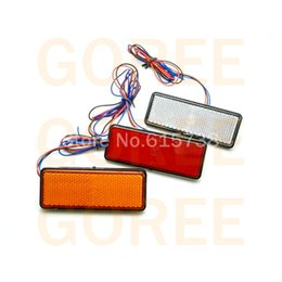 Wholesale Turn Lights For Motorcycles - Red motorcycle Reflectors Brake Light for car truck ATV Scooter Truck And Dirt Bike Reflector