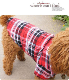 Wholesale Dog Appreal - New Spring and Summer Pet Dog Clothes High Quality Grid Stripe Shirt for Dogs Small Puppy Teddy Dog Appreal Pet Supply XS S M L