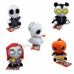 "Wholesale Toy Pumpkins - Free Shipping The Nightmare Before Christmas JACK Pumpkin King Sally Vampire Teddy Zero Plush Toy 5"""