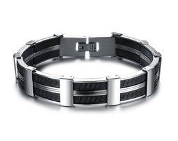 Wholesale Thick Bangle Bracelets - MEN JEWELRY Fashion Big Cuff Wristband Genuine Silicone Thick Wide Bracelet Bangle True Men Accessory Gift Hot Sale Silicone Bracelet 823