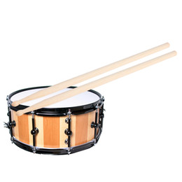 Wholesale Maple Drum Sets - Wholesale-Hot Sale! 1 Pair of 5A Maple Wood Drumsticks Stick for Drum Drums Set Lightweight Professional I344 Top Quality free shipping