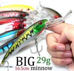 Wholesale Big Bass Bait - 3D Eyes Plastic Crank Bait Swimbait 30g 16.5cm Minnow Fishing Lures Japan Deepswim Saltwater Hard Bait Sinking Wobbler Fishing lures Bass