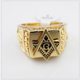 Maçonnerie sans anneau de hip-hop européenne et américaine anneaux maçonniques marée Tide marque de haute qualité couleur or 18 carats / rétention de la couleur durable ? partir de fabricateur