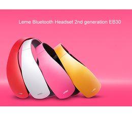 Wholesale Over Ear Headphones Microphones - Original Leme EB30 Stylish Bluetooth 4.1 Headphones Wireless Headset over the ear headband with microphone