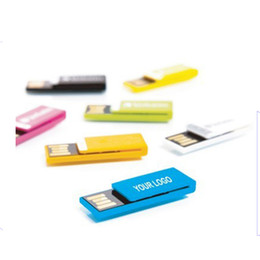Wholesale Usb Flash Drive Yellow - Black red green blue yellow chip usb flash disk pen drive customized logo 2GB 4GB 8GB 16GB for gift or use flash memory