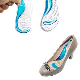 Wholesale High Insole Sandals - Wholesale-1 pair Non-Slip Sandals High Heel Arch Cushion Support Silicone Gel Pads Shoes Insole Woman Insoles cushion #FM0995