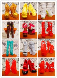 Wholesale Girls Quality Wool Coat - doll shoes O for U 30Pairs lot Toy Original High Quality Mixed-Style Beautiful Boots Sandles Monster Doll Shoes For Monster Dolls Outfits