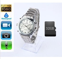 Wholesale Video Wrist Watches 32gb - Spy HD Wrist DV Watch 32GB Video 1920*1080 Hidden Camera DV Waterproof Camcorder