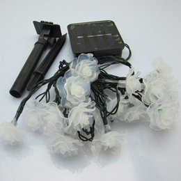 Wholesale Solar Led Flowers - Solar flowers design Rose Lotus Peach blossom LED strip christmas light holiday decoration LED fairy garden lights