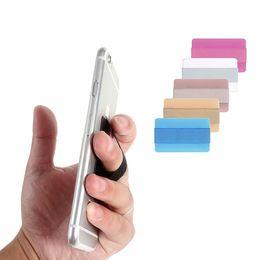 Canada Mélange Couleur Universel Mince Élastique Téléphone Finger Grip Strap Accessoires de Téléphone Cellulaire Mini Porte-Smartphone pour iPhone 7 6 s avec le paquet de détail Offre