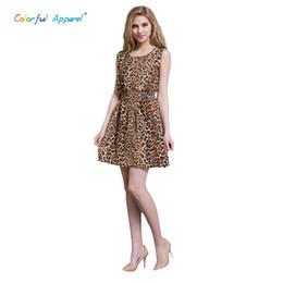 Wholesale Leopard Print Beach Dress - Wholesale-Colorful Apparel HOT! 2016 new 20 Styles Women casual Bohemian floral leopard sleeveless vest printed beach chiffon dress CA83A