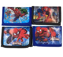 Wholesale Kids Spider Man Gift Bag - Fashion Cartoon Spider Man Coin Purse Children Zip Change Purse Wallet Movie Kids Girl Women Pouch Bolsa For Gift
