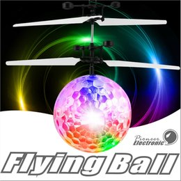 Wholesale Infrared Flying Toy - Flying Ball, Children Flying Toys RC infrared Induction Helicopter Ball Built-in Shinning Color Changing LED Lighting for Kids ,Teenagers