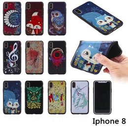 Wholesale Elephant Iphone 3d - 3D Soft TPU owl Music notes horse tooth elephant cover case for iphone X 8G 7 plus 6S PLUS 5S Samsung S8 PLUS NOTE8