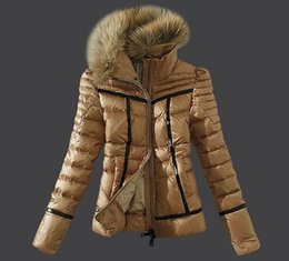Wholesale Women Stand Collar Outerwear - Famous Mon White Down Parkas Jackets Slim hoodies warm Down jackets Snowproof outerwear coats Top Fancy warm lady snowcoat