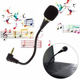 Wholesale Mini Flexible Microphone - Flexible 3.5mm Jack Mini Microphone Mic For PC Laptop Desktop Skype Yahoo Black GSCP2196