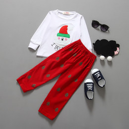 Wholesale Piece Apparel - Boy's clothing sets baby boy clothing santa claus christmas suit costume children's apparel fashion clothing 5 s l