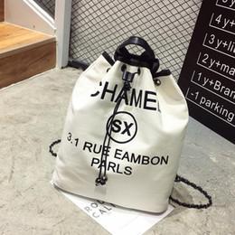 Wholesale Green Canvas Backpacks - Designer Backpacks Famous Brand Women Backpack Luxury High Quality Canvas Backpack Fashion Female Handbags School Shoulder Bag White