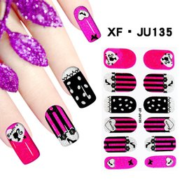 Wholesale Nail Stickers Girls - Hot Fashion 64 Styles Girls Glitter Nail Art Stickers Decals Beauty Tools Manicure Carving Nail Decorations XF.JU135