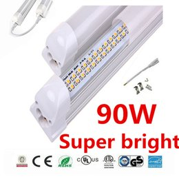 Wholesale Ul Pack - 25 Pack Double Row Integrated T8 8ft Led Tube Light Cold White 90W Clear Lens