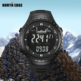 Wholesale Barometer Thermometers - Wholesale-Hot!!! Fishing Altimeter Barometer Thermometer Altitude Men Digital Watches Sports Clock Climbing Hiking Wristwatch Montre Homme
