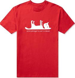 Wholesale Big Bang T Shirts - Schrodingers Cat is Dead FUNNY PRINTED MENS T-SHIRT Science Geek The Big Bang Theory Sheldon Cooper TBBT PRINTED T SHIRT