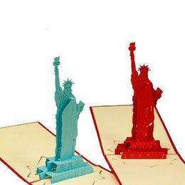 Argentina 2016 Corea tarjetas de felicitación creativas tridimensionales esculturas de papel Liberty Business tarjetas de cumpleaños postales Al por mayor y al por menor cheap retail postcards Suministro