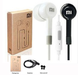 Wholesale Headphones Remote Box - Xiaomi Earphone Headphone Headset For XiaoMI M2 M1 1S Samsung iPhone MP3 MP4 With Remote And MIC with box