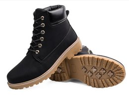 Wholesale Wear Resistant Shoes - Men Martin boots outdoor sports hiking shoes snow casual shoes male cowboy boots non-slip wear-resistant work boots Walking Travel shoes