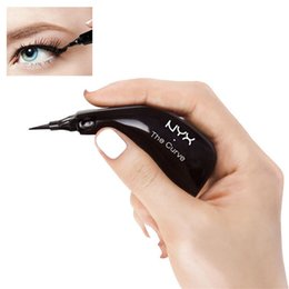 Wholesale Eyeliner Makeup Eye Beauty - NYX The Curve Liquid Eyeliner Beauty Meets Function High Quality Waterproof Cosmetics Party Queen Eye Makeup Eyeliner 0.4ml