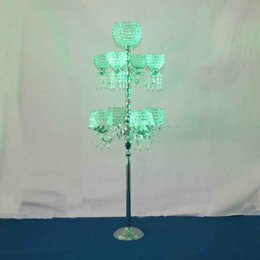 Wholesale Cheap Vases Flowers - pillars stands flowers crystal vases decorative centerpieces for wedding table cheap
