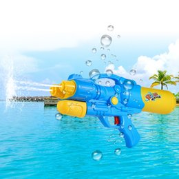 Wholesale old fashioned toys - Water Gun Plastic Dual Hole Nozzle Pull Water Gun Soaker Squirt Blaster Shooter Pistol Long Rang Toy Water Gun Toys Hot Fashion