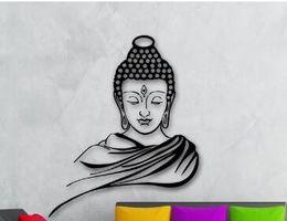 stickers d'art murales bouddha Promotion Portrait 3D Affiche Classique Religion Bouddhisme Bouddha Sticker Mural Decal Vinyle Amovible Mur Art Décor À La Maison Muraux D 648B