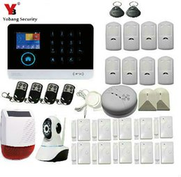 Wholesale Wifi Motion Detector Alarm - Wholesale- YobangSecurity Wifi Wireless Home Business Security Alarm System with Auto Dial Motion Detectors IP Camera Siren For Security