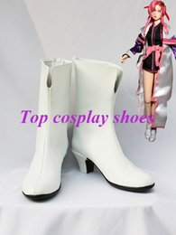 Wholesale Gundam Seed - Wholesale-Freeshipping custom-made anime Gundam Seed Cosplay Lacus Clyne Cosplay Boots shoes #GAI0190