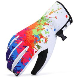 Wholesale Glove Fire - Colorful fire ski gloves stylish Energy snow winter outdoor sport Anti-skidding riding Insulated skate hand protect