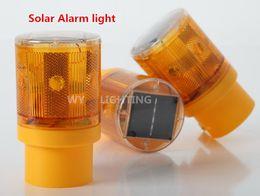 Wholesale Garden Alarm - Wholesale-Traffic Warning Light Led Solar Signal Beacon Lamps Industrial Road Lightsoutdoor lighting led solar alarm light