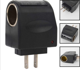 Wholesale Cigarette Lighter Dc Plug - 110V AC Wall Power to 12V DC Car Cigarette Lighter Adapter AC to DC Converter EU US Plug