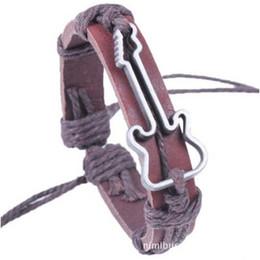 Корейский стиль Кожаный сплав Гитара БРАСЛЕТ Унисекс женские Браслеты бижутерия браслет Браслеты делают вас привлекательными от
