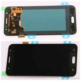 Wholesale Wholesale Cell Phone Screen Replacement - For Samsung J500 Lcd Display Black White Touch Screen Digitizer Assembly Replacement Repair Cell Phones LCD Smartphone Parts